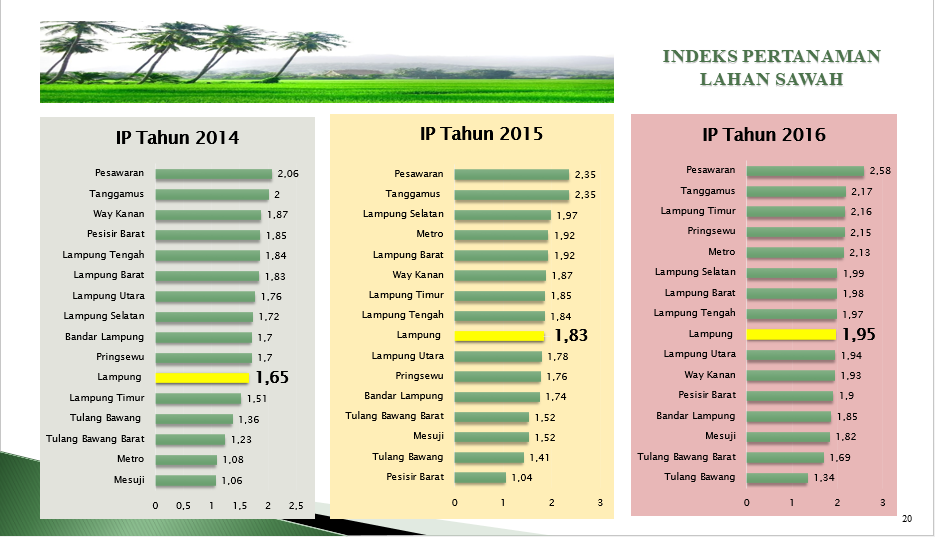 INDEKS PERTANIAN Provinsi Lampung